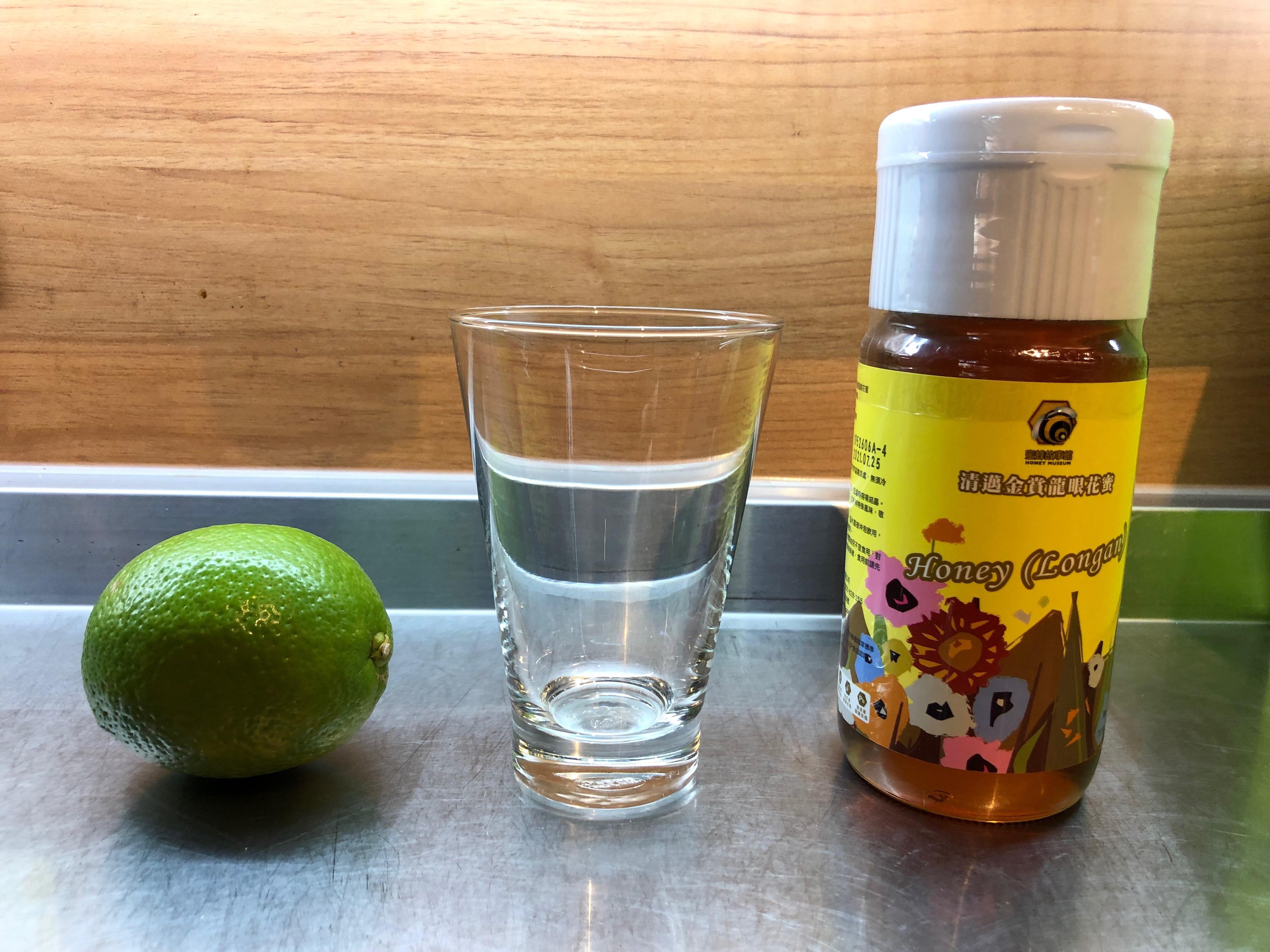 蜂蜜檸檬準備材料