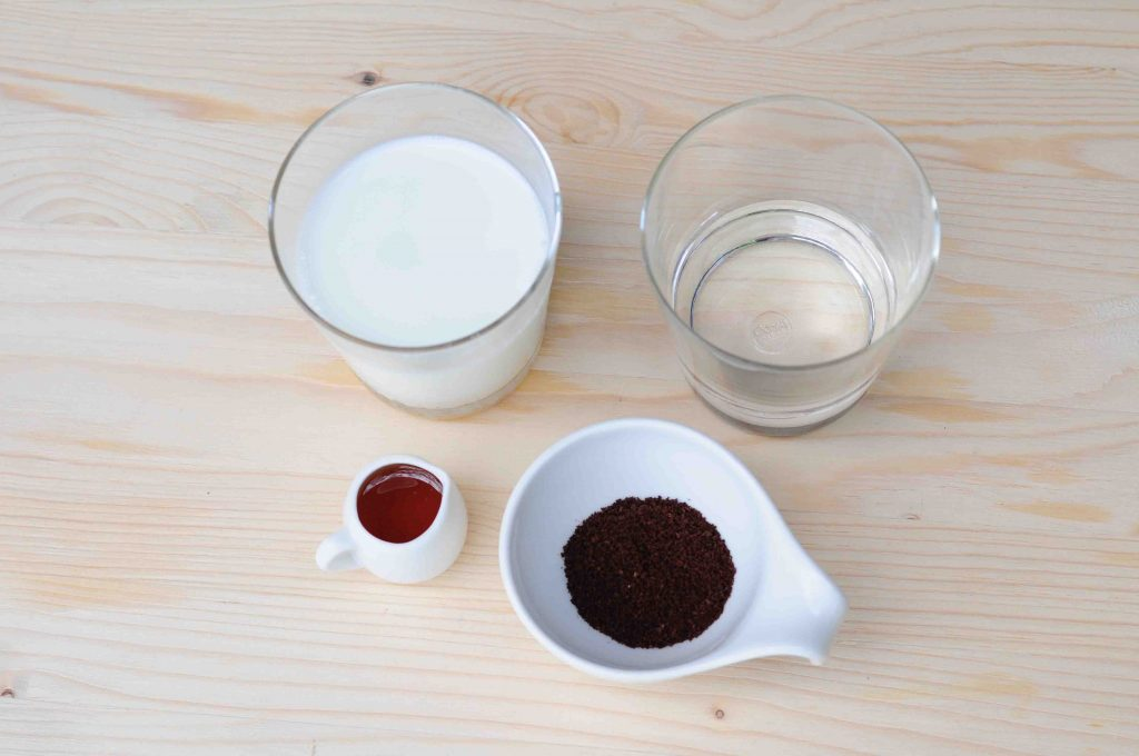 蜂蜜冰磚咖啡材料