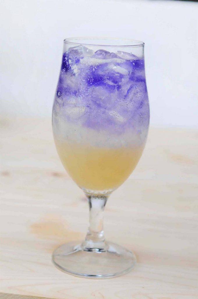 蝶豆花蜂蜜檸檬氣泡水製作步驟5