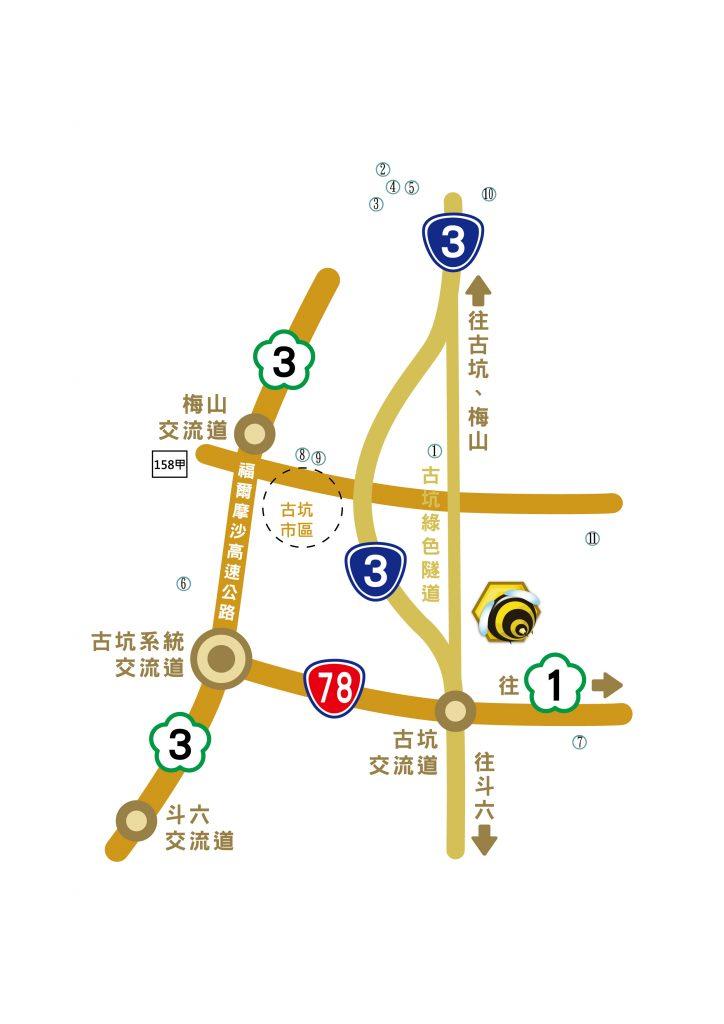 蜜蜂故事館地圖