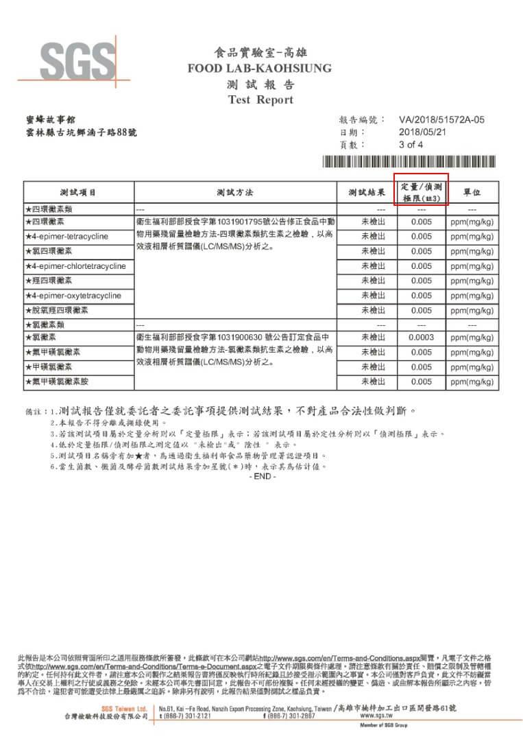 蜂蜜檢驗報告03